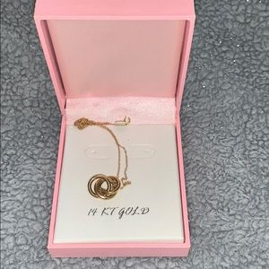 """14 KT Gold """"Love Knot"""" Necklace"""